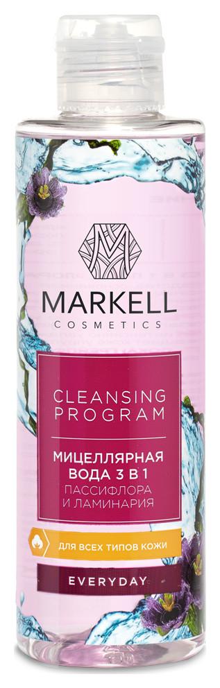 Мицеллярная вода 3 в 1 Пассифлора и ламинария Markell Everyday