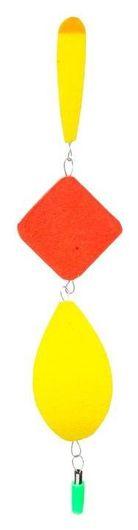 Поплавок тройной №4, цвет жёлтый  NNB