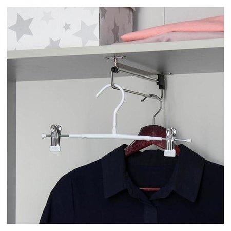 Вешалка для брюк и юбок с зажимами 31×13 см, антискользящее покрытие, цвет белый NNB
