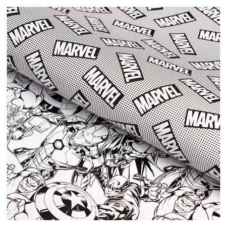 Бумага упаковочная глянцевая двусторонняя, мстители, 60x90 см  Marvel