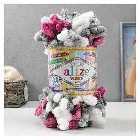 "Пряжа ""Puffy Color"" 100 % микрополиэстер 9м/100г (6070)  Alize"