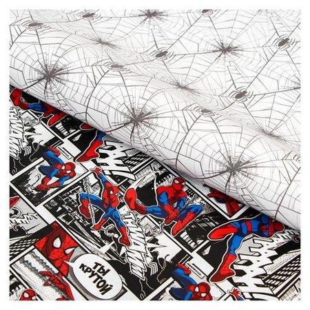 Бумага упаковочная глянцевая двусторонняя, человек-паук, 60x90 см Marvel