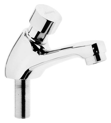 Кран на одну воду Accoona A90400, нажимной, хром  Accoona