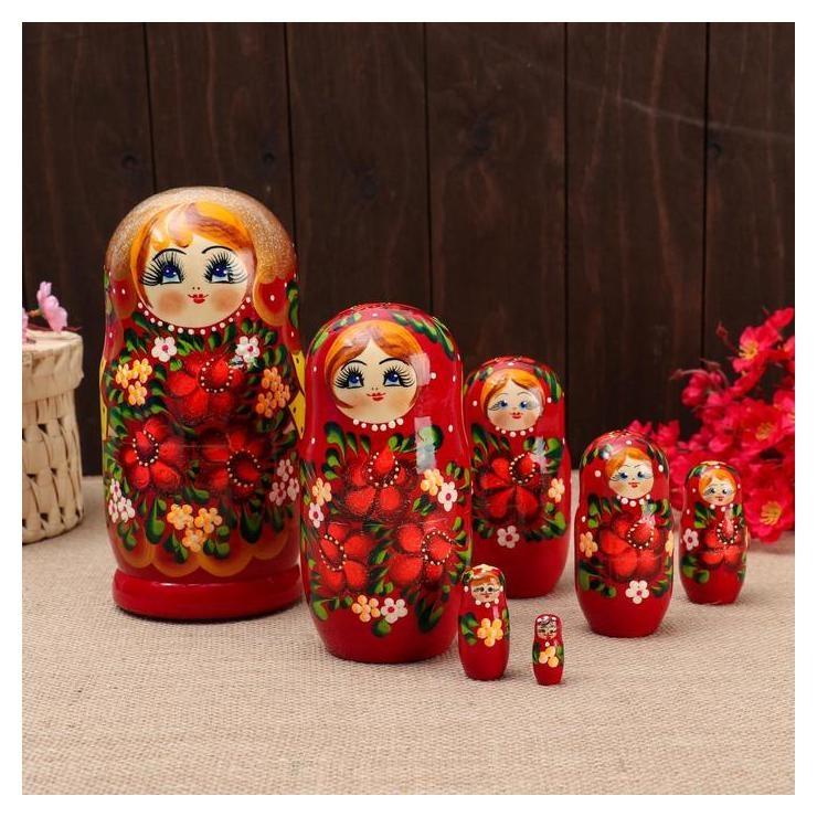 Матрёшка 7-ми кукольная Лара, 23-25см, ручная роспись. NNB