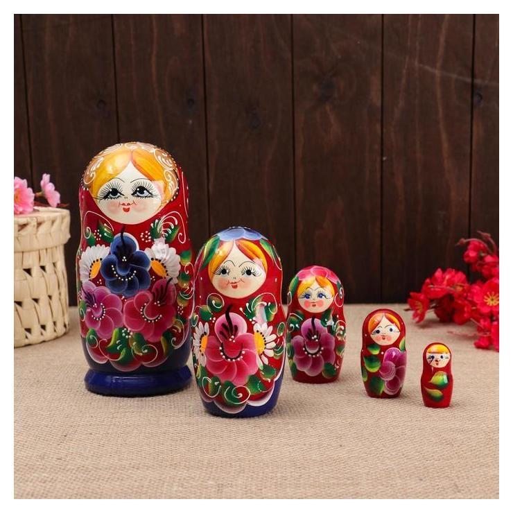 "Матрёшка 5-ти кукольная ""Настя"" ромашки, 17-18см, ручная роспись.  NNB"