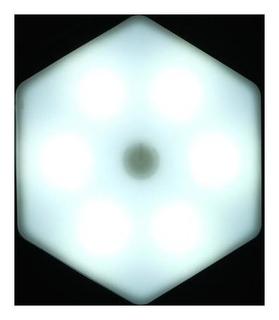 """Набор светильник сенсорный """"Соты с пультом"""" 1 шт, 85х75мм, 6500к, 3*ааа (Не в компл.)"""