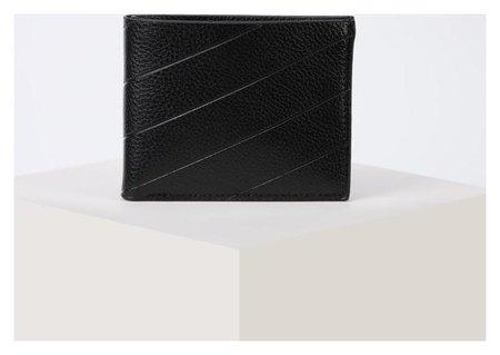 Портмоне мужское, 2 отдела, для купюр, для карт, цвет чёрный NNB