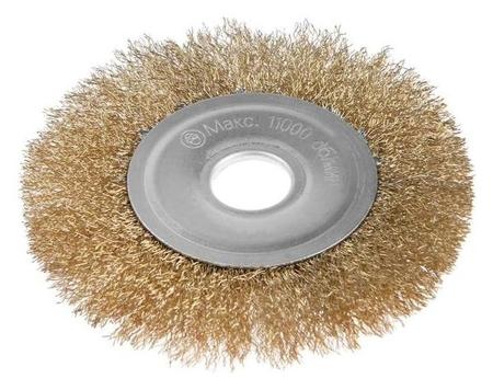 Щетка металлическая для УШМ Lom, плоская, 22 мм, 125 мм LOM
