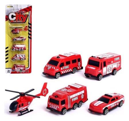 Набор машин «Пожарная служба», 5 штук NNB