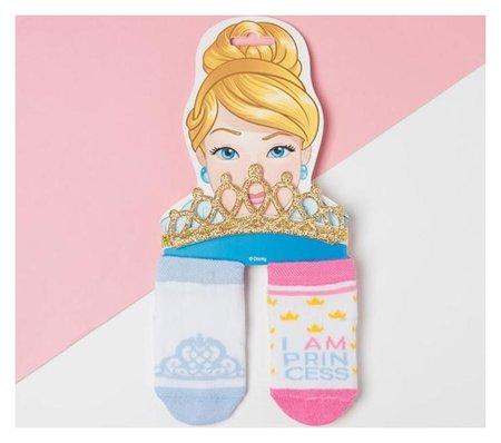 """Набор """"Princess"""" принцессы, повязка, носки 2 пары р.8-10 см  Disney"""