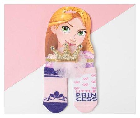 "Набор ""Рапунцель"" принцессы, повязка, носки 2 пары р.12-14 см  Disney"