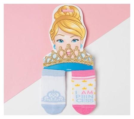 """Набор """"Princess"""" принцессы, повязка, носки 2 пары р.10-12 см  Disney"""