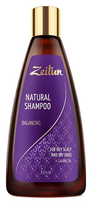 Шампунь для волос жирных у корней и сухих на кончиках с маслом лавра Балансирующий Zeitun