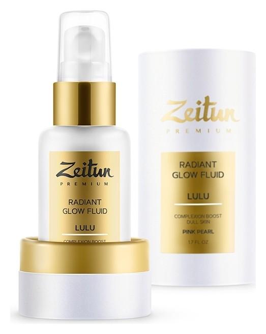 Дневной флюид-сияние со светоотражающими частицами Розовое сияние Zeitun Premium Lulu