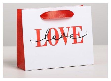 Пакет подарочный ламинированный горизонтальный Love, S 15 X 12 × 5,5 см Дарите счастье