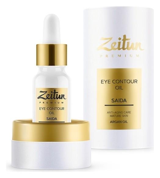 Разглаживающий масляный эликсир для контура глаз с арганой и ладаном Zeitun Premium Saida