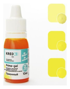 Краситель пищевой Prime-gel, водорастворимый, лимон, 10 мл  Kreda