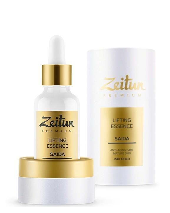 Лифтинг-эссенция для зрелой кожи с 24К золотом Zeitun Premium Saida