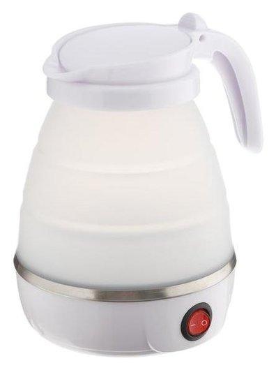 Чайник электрический Luazon Lsk-1812, пластик, 0.6 л, 600 Вт, дорожный, белый  LuazON
