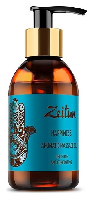 Ароматическое массажное масло с какао, мускатным орехом и ванилью Счастье Zeitun