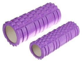 Роллер для йоги 2 в 1, 33 х 13 см и 33 х 10 см, цвет фиолетовый