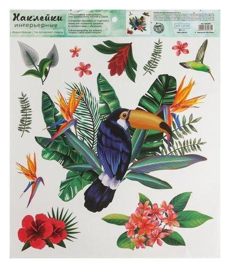 Наклейка виниловая «Тропические прикючения», интерьерная, 30 х 35 см  Арт узор