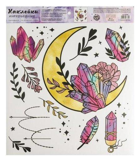 Наклейка виниловая «Лунный свет», интерьерная, со светящимся слоем, 30 х 35 см  Арт узор