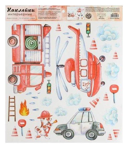 Наклейка виниловая «Бимка пожарный», интерьерная, 30 х 35 см  Арт узор