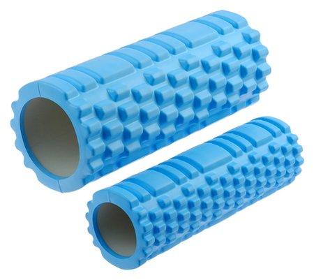 Роллер для йоги, 2 штуки: 33 × 13 см и 33 × 10 см, цвет голубой  Sangh
