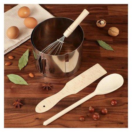 """Подарочный набор """"Для выпечки"""", 4 пр: форма, лопатка, ложка, венчик  Доброе дерево"""