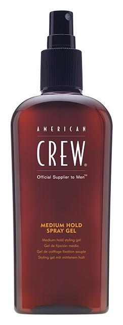 """Спрей-гель для укладки волос средней фиксации """"Classic Medium Hold Spray Gel""""  American Crew"""