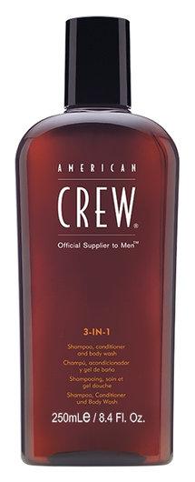 Шампунь, кондиционер и гель для душа 3 в 1  American Crew