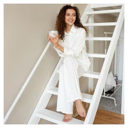 Пижама женская (Сорочка, брюки) Minaku: Home Collection цвет белый, р-р 48  Minaku