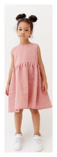 Платье для девочки Minaku: Cotton Collection, цвет красный, рост 98 см  Minaku