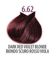 Тон 6.62 Темный блондин фиолетово-красный  FarmaVita