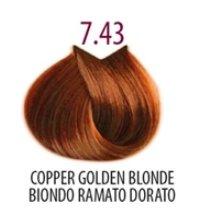 Тон 7.43 Медно-золотистый блондин  FarmaVita