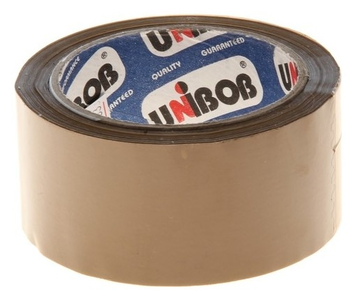 Клейкая лента Unibob 48мм*66м 60мкм, тёмная  Unibob