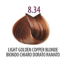 Тон 8.34 Светлый блондин золотисто-медный  FarmaVita