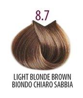 Тон 8.7 Блондин коричневый кашемир  FarmaVita