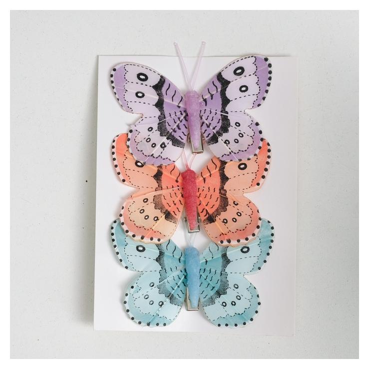 Декор на прищепке бабочка  NNB