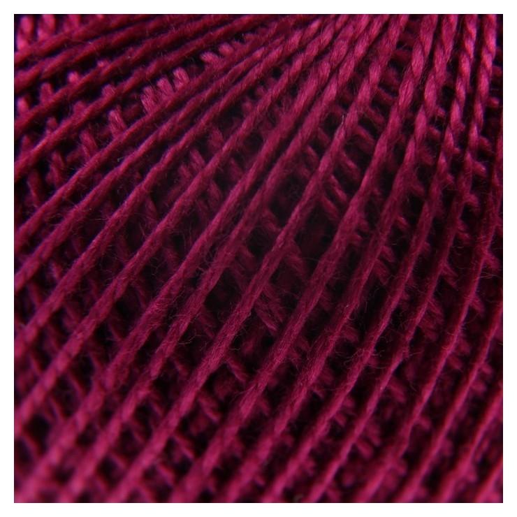 Нитки вязальные Ирис 150м/25гр 100% мерсеризованный хлопок цвет 1206 ПНК им. Кирова