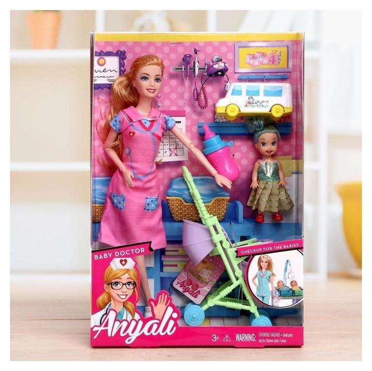 Кукла-модель шарнирная «Врач» с малышкой, с аксессуарами  NNB