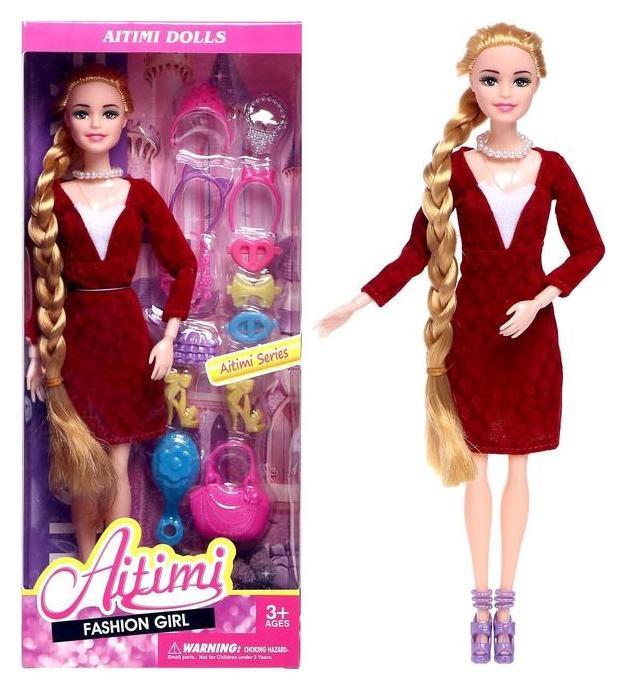 Кукла-модель шарнирная «Рая» в платье, с аксессуарами NNB
