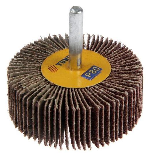 Круг лепестковый радиальный Tundra, 60 х 20 х 6 мм, Р80  Tundra