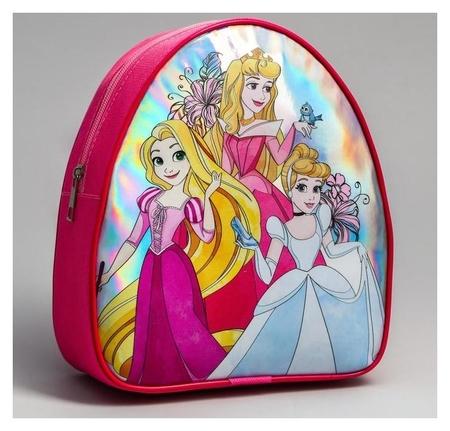 Рюкзак детский через плечо, принцессы: рапунцель, аврора, золушка  Disney