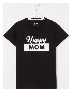 "Футболка женская Kaftan ""Happy Mom"" р. 52-54  Kaftan"