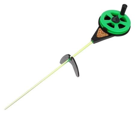 Удочка зимняя «Балалайка» ус-3, хлыст поликарбонат, цвет зелёный  КНР