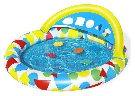 Бассейн надувной детский Splash & Learn, 120 X 117 X 46 см, с навесом 52378 Bestway  Bestway