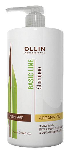 Шампунь для сияния и блеска с аргановым маслом  OLLIN Professional