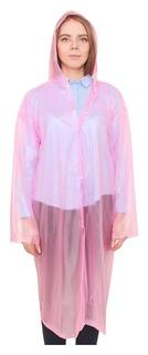 Дождевик-плащ взрослый, универсальный, цвет розовый